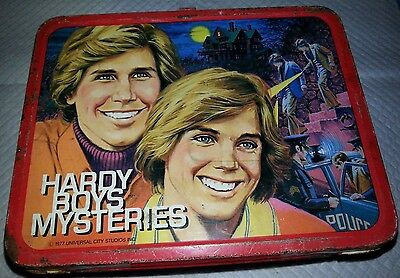 The Hardy Boys Mysteries`1977`Metal Lunchbox & Thermos...