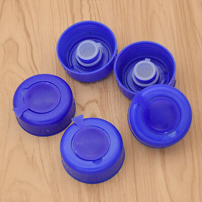 Replacement Gallon Water Bottle Snap On Cap Anti Splash 55mm Peel Off Tops 5 Pcs