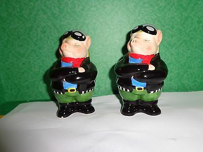 Motorcyclist Hogs Salt and Pepper Shakers