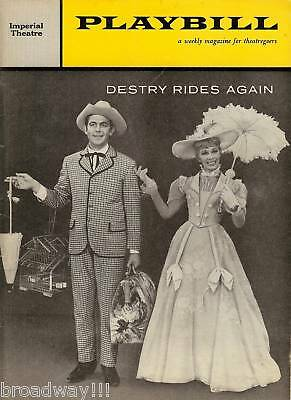 """Dolores Gray """"DESTRY RIDES AGAIN"""" Andy Griffith 1959 Broadway Premiere Playbill"""