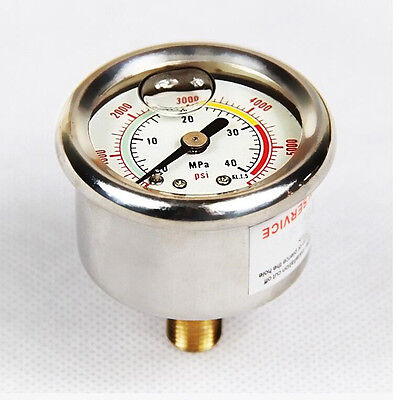 High Pressure 40Mpa/6000PSI Pressure Gauge With M10*1 For PCP Hand Pump