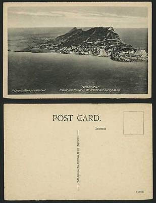 Gibraltar Old Postcard ROCK S.W. from AIR - Aerial View