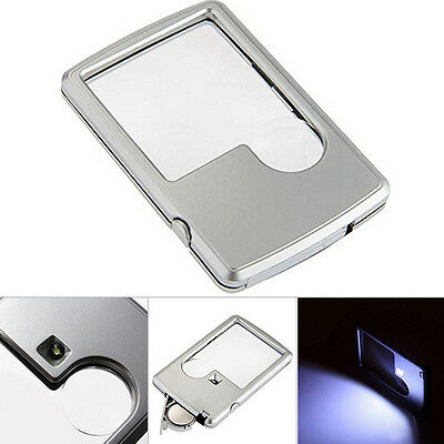 Hot Sale Credit Card Led Magnifier loupe with light magnifying glass