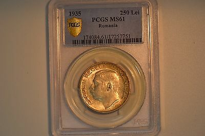 Romania: 1935 250 Lei- PCGS MS-61.