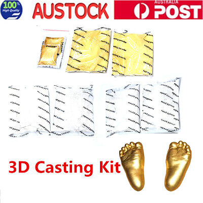 3D Baby Hand & Foot Print Plaster Cast Kit Photo Frame Moulding & Casting Powder