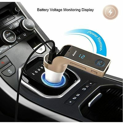 UK Wireless Bluetooth FM Transmitter Kit USB Port For Car MP3 Music Player Radio