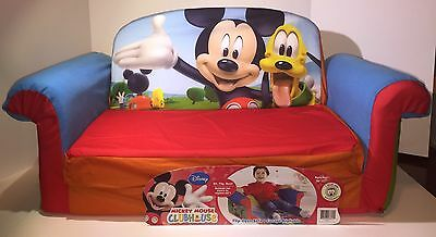 Disney Flip Open Sofa Mickey Mouse Club House Fold Out Couch Marshmallow Bed