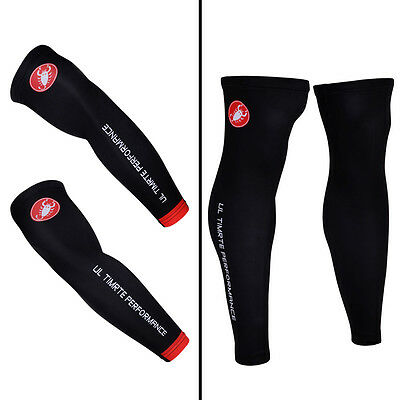 Cycling Bicycle UV Sun Protection Sport Skin Arm Warmers Leg Cover Cuff Sleeve