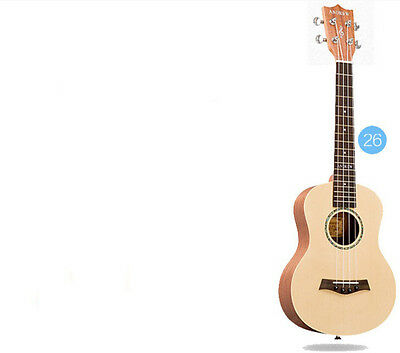 26 inches Wood Color 4 String Profession Musical Instrument Ukulele #