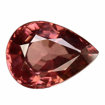1.585 Cts Luxurious Stunning Luster Brown Natural Zircon Pear Loose Gemstones