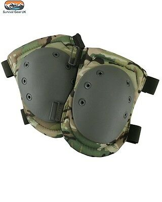 BTP Multicam StyleTactical Armour Knee Pads Kombat Airsoft Protection