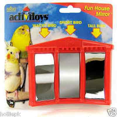 Jw Fun House Bird Mirror Toy For Budgie Cockatiel Bolts To Wire Cage