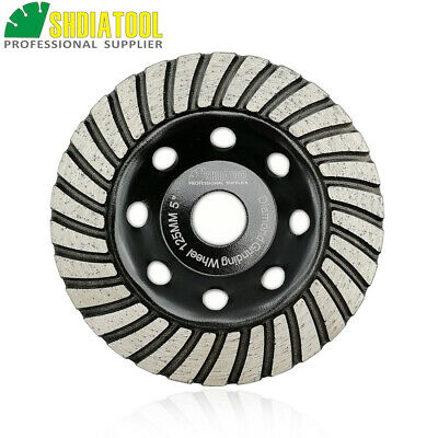 "5"" Diamond Turbo Row Grinding Cup Wheel 125mm grinding disc concrete granite"