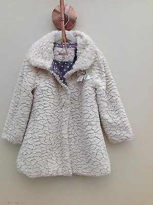 John lewis Fur Christmas Coat Jacket Age 6