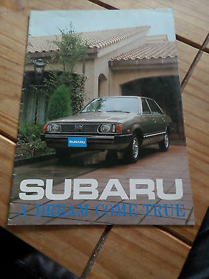 Subaru  Brochure SEDAN SATION WAGON MP HARDTOP, SALOON COUPE ESTATE PICK UP RARE