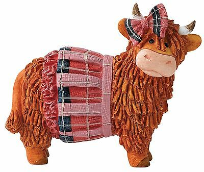 Ava Peludo Coos Border Fine Arts Cow Animal Figura Decorativa Figura 9cm A27065