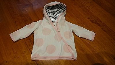 Cotton On Baby Girls Jacket Top White/Pink 3-6 months Size 00