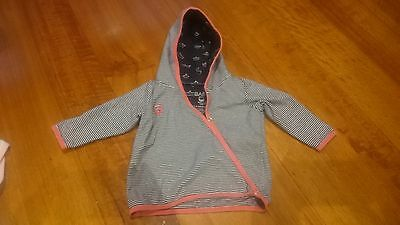 Cotton On Baby Girls Jacket Top Black/White/Pink 3-6 months Size 00