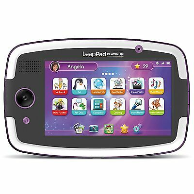 LeapFrog LeapPad Platinum Kids Learning Tablet Purple 7 Inch Ages 3+ Toy