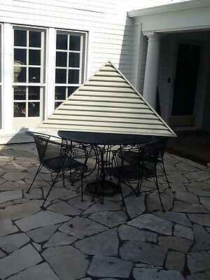 "Lovered gable wood peak  TRIANGLE pediment 6 ft long x 51"" x 51"" Michigan"