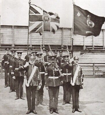 9th Durham Light Infantry Colour Party British Army 1909 5x5 Inch Reprint Photo
