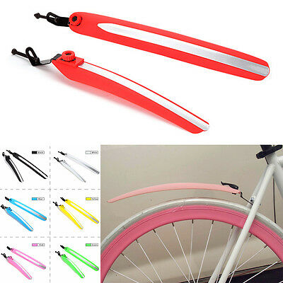 Plastic Cycling Bicycle Bike Rear Front Mud Guards Mudguard Fenders Set