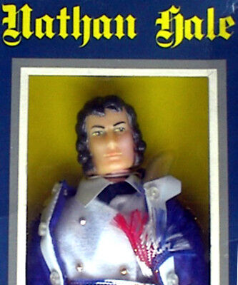 """1974 HERO OF THE AMERICAN REVOLUTION 8"""" rt toys doll MIB -- NATHAN HALE"""