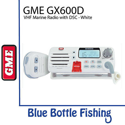 NEW GME GX600D VHF Marine Radio with DSC - White from Blue Bottle Fishing