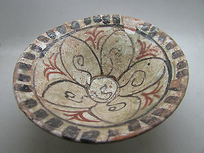 Rare ancient Islamic glazed terracotta dish early Medieval period 1200-1300AD