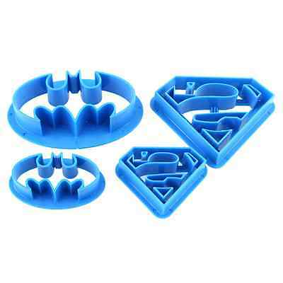 4pcs Batman Cake Cookies Biscuit Cutter Fondant Pastry Mould Icing Baking Mold
