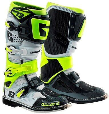 Stivali Motocross Gaerne Cross & Enduro Line Sg-12 Grey -Yellow Fluo