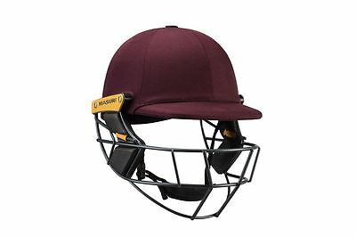 2017 Masuri Original Series MKII Maroon Cricket Helmet with Titanium Grill