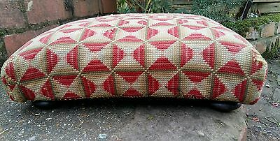 antique square shaped foot stool bun feet