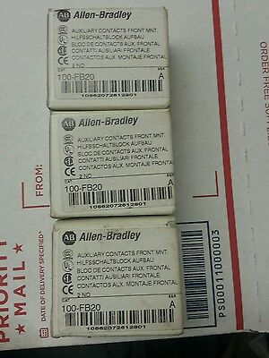 Allen Bradley 100-F b20 Series A Auxiliary Contact 2 Normally Open lot of 3