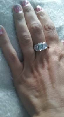 Women's size 7 3 Three Stone Emerald Cut CZ Wedding Engagement Ring AAA NWOT