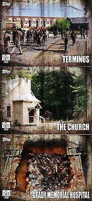 The Walking Dead Season 5 - Locations Insert Chase Trading Card Set