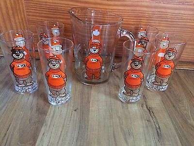 Vintage 1970's A&W Root Beer The Great Root Bear Pitcher & 6 Glasses