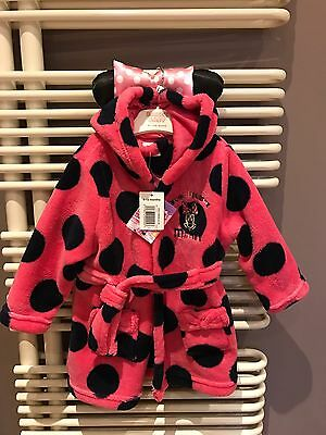 Disney Junior Baby Minnie Mouse Dressing Gown 9-12M/New/Tags Baby Gift��