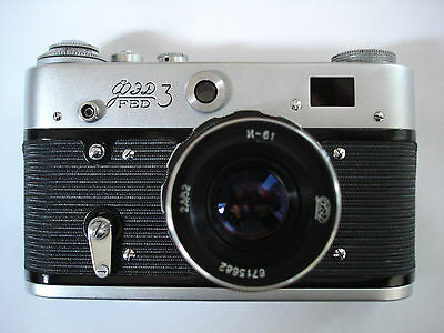 Russian FED 3 Rangefinder Camera with 2.8/52 Lens