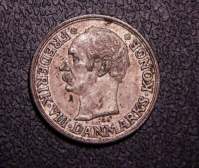 *Toned UNC* Denmark 1910 10 Ore Very Strong Details,  Nice Silver Coin!