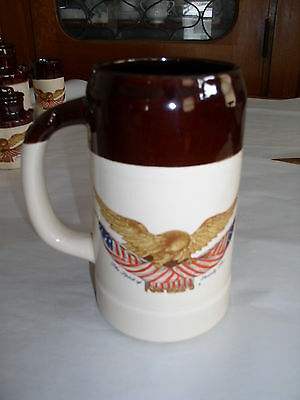 McCoy National Gallery of Art / Spirit of 76 Carved Eagle 2qt Tankard or Stein