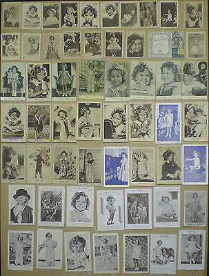 Mw92D Shirley Temple Collection Of 115 Original Vintage Postcard