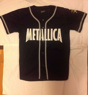 Metallica - Flaming Skull - Baseball Jersey - Concert Shirt - XL