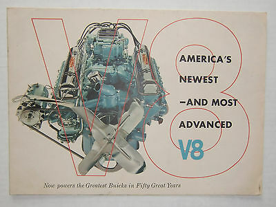 1953 Buick America's Newest Most Advanced V8 Brochure FREE SHIPPING