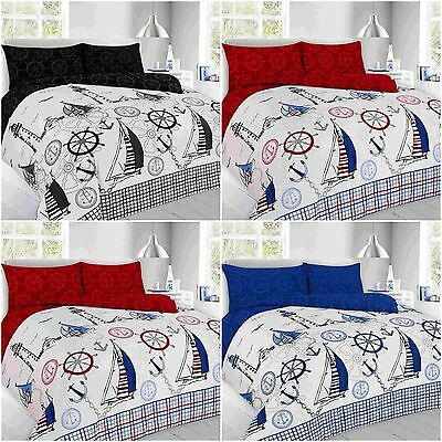 Beachcomber duvet quilt cover nautical boat ship for Jake quilted bedding
