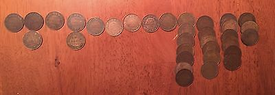 Collection of 69 Canadian Large Cents