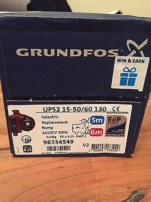 grundfos ups2 15-50/60 130 5m 6m Replacement Central Heating Pump