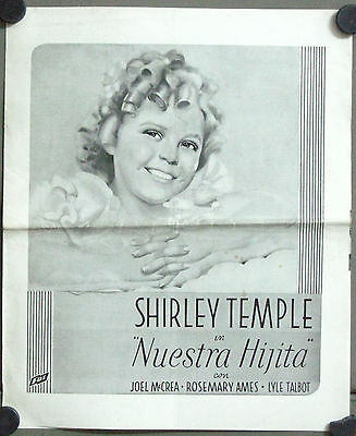 G5665 OUR LITTLE GIRL SHIRLEY TEMPLE US PRESSBOOK sp language