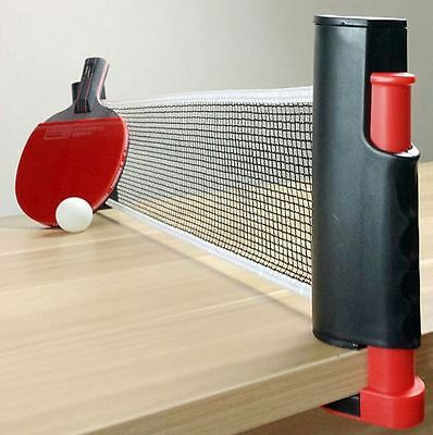 New Portable tennis table net ping pong retractable rack black kit replacement