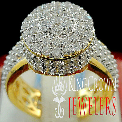 Ladies Bridal Ring Real Yellow Gold Silver Lab Diamond Wedding Engagement Band